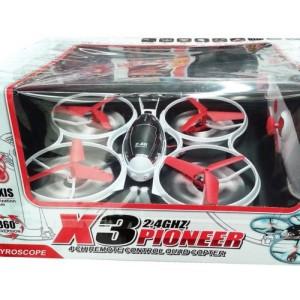 QUADRICOTTERO X3 PIONEER 2.4GHZ 4 CANALI RADIOCOMANDATO