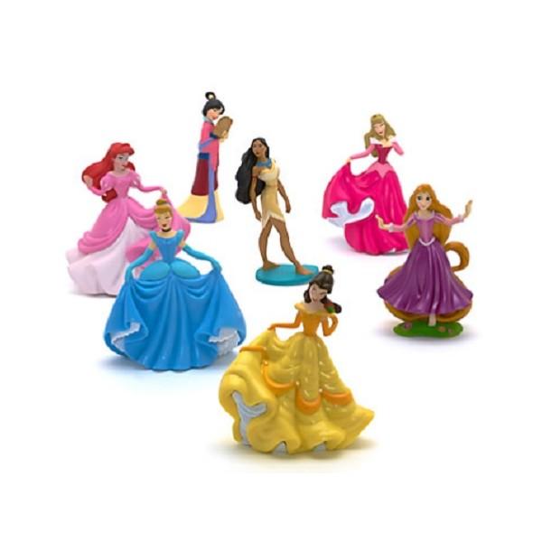 Set 7 Personaggi Principesse Disney Anche Decorazione