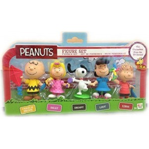 Set 5 Personaggi Pvc Peanuts Snoopy Linus Anche