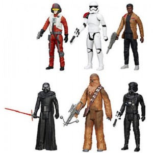 STAR WARS SET 6 PERSONAGGI SNODABILI 28 CM CHEWBACCA KYLO REN STORMTROOPER
