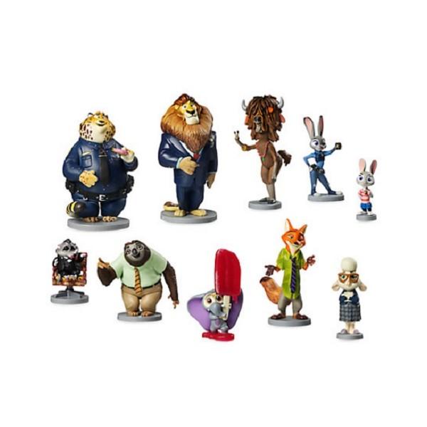 Set 10 Personaggi Pvc Zootropolis Anche Decorazione Torte