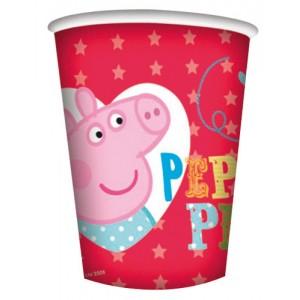 PEPPA PIG BICCHIERI PLASTICA NEW FESTA COMPLEANNO PARTY
