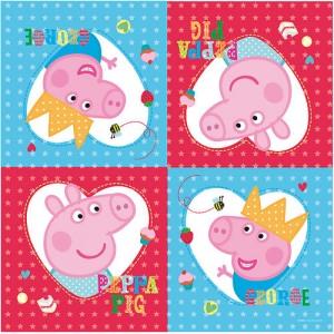 PEPPA PIG TOVAGLIOLI CARTA NEW FESTA COMPLEANNO PARTY