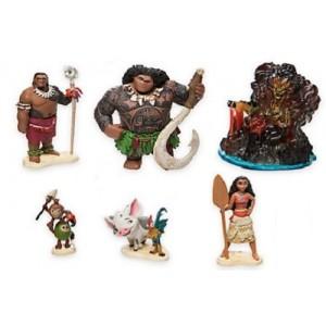 Set 6 Personaggi Pvc Oceania Vaiana Disney Anche