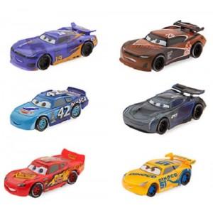 SET 6 PERSONAGGI CARS 3 DISNEY SAETTA MCQUEEN CRUZ RAMIREZ JACKSON STORM...