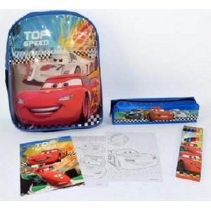 comprare on line ef042 130af ZAINO ASILO CARS DISNEY + ASTUCCIO + COLORI + ALBUM DA ...