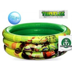 Piscina gonfiabile 3 tubi tartarughe ninja tmnt mare for Piscina tartarughe