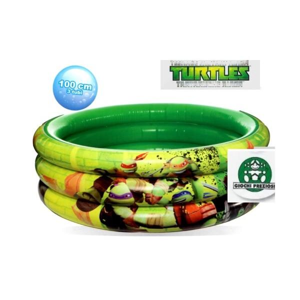 Piscina gonfiabile 3 tubi tartarughe ninja tmnt mare for Piscina per tartarughe